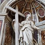 Statues Inside St Peter's Basilica