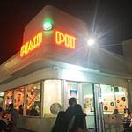 Peach Pit 90210 outside Pop-Ups in Los Angeles