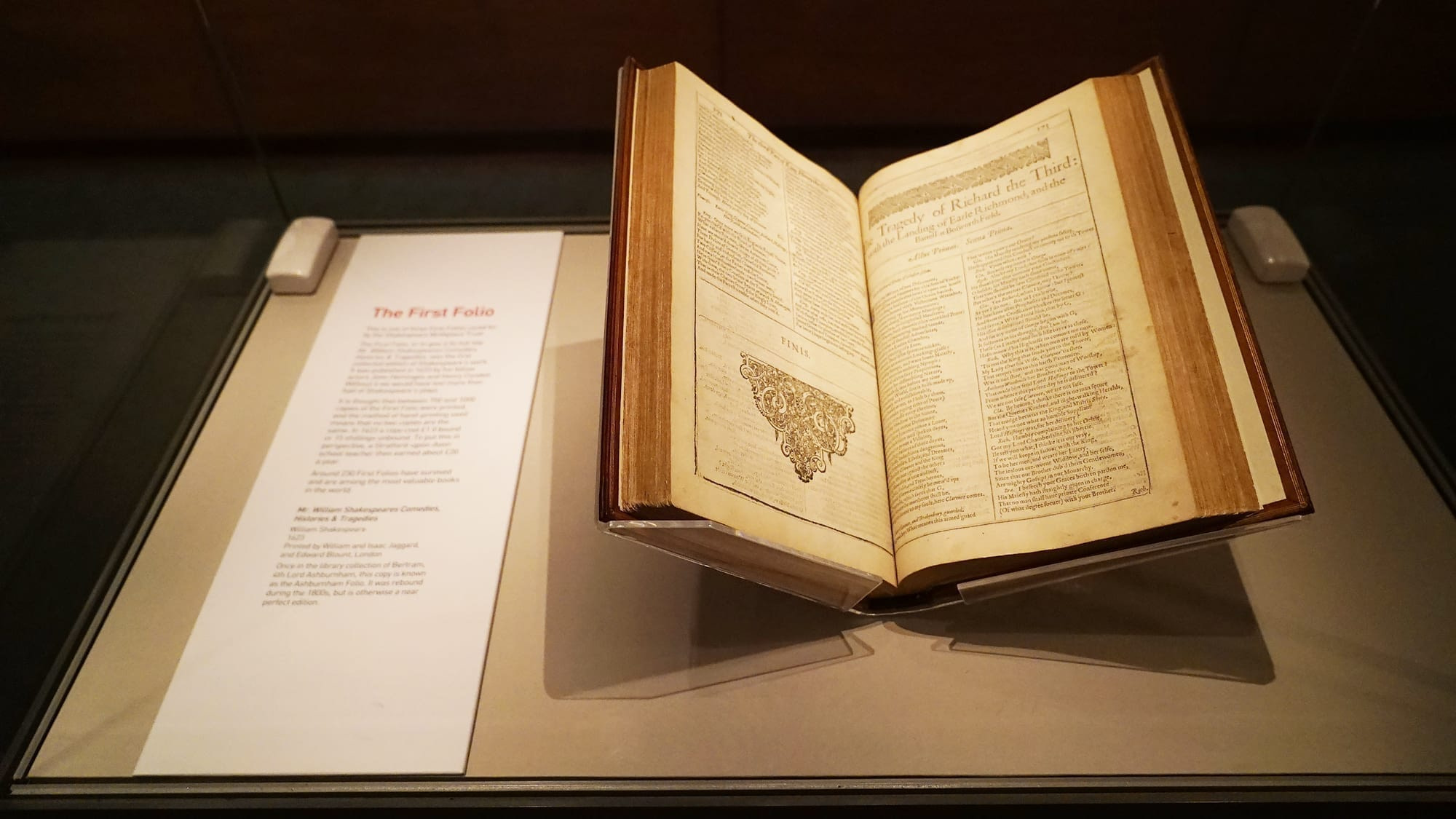 shakespeare's birthplace first folio