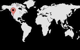 world map los angeles pin